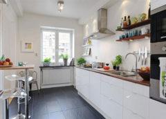Особенности дизайна кухни без верхних шкафов