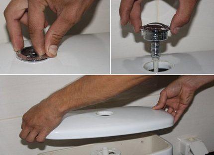 Бачок унитаза с кнопкой: как открыть или разобрать конструкцию