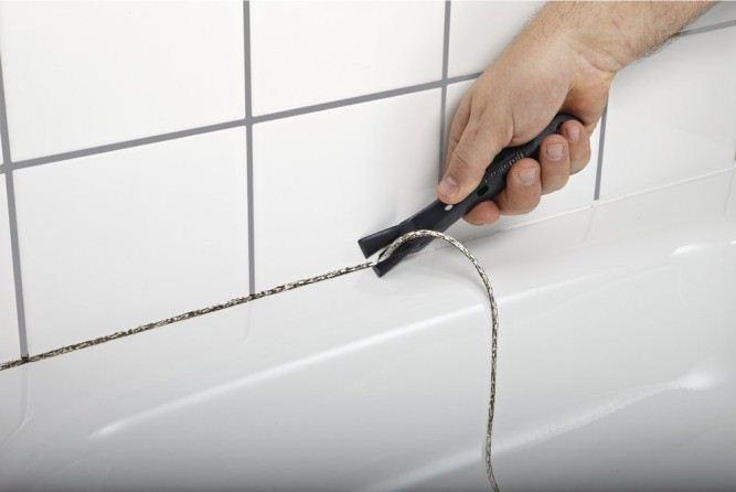 Как удалить силиконовый герметик с кафеля: способы очистки плитки